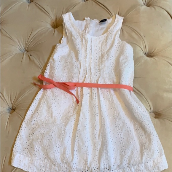GAP Other - Gap white eyelet dress with ribbon
